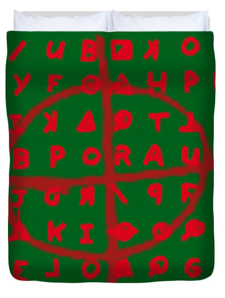 Zodiac Killer Code and SIgn 20130213 Duvet Cover by Wingsdomain Art and Photography
