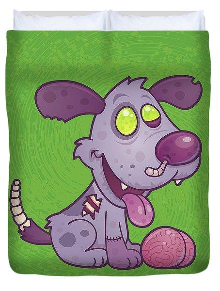 Zombie Puppy Duvet Cover by John Schwegel