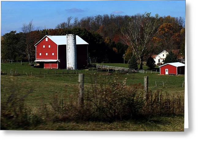 Farm Life Framed Prints Greeting Cards -             Bull Hill Greeting Card by R A W M