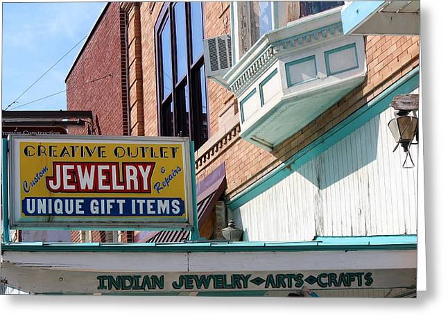 Jewelry Framed Prints Greeting Cards -      Creative Outlet Greeting Card by R A W M