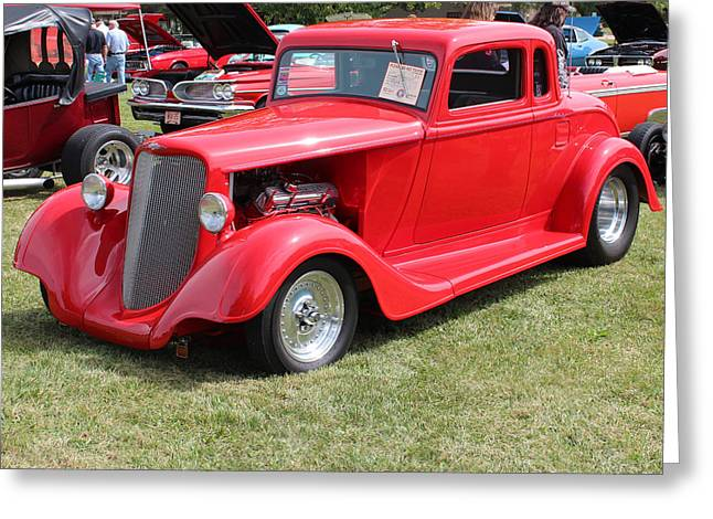 1934 Dodge Greeting Cards -      1934 Dodge Coupe Greeting Card by R A W M