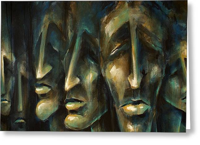 Featured Portraits Greeting Cards -   Jury of Eight  Greeting Card by Michael Lang