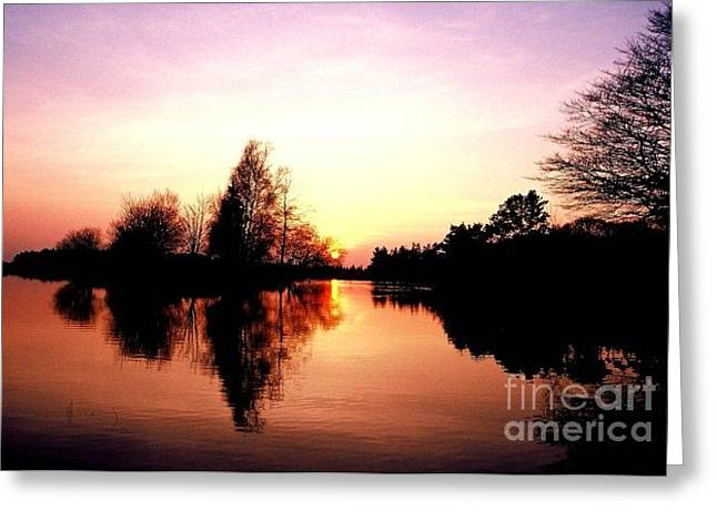 Sunset Greeting Cards Greeting Cards -        Lake Sunset Greeting Card by R A W M