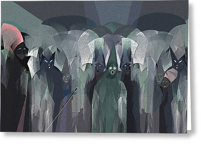 Inu Greeting Cards -   001 - Nightwalkers dark ... Greeting Card by Irmgard Schoendorf Welch