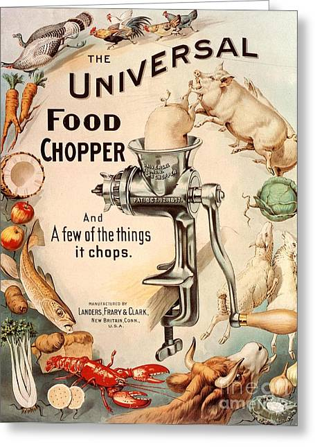 If Greeting Cards -  1899 1890s Usa Food Choppers Mincers Greeting Card by The Advertising Archives