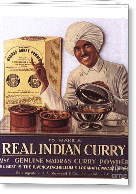 1910s Uk Indian Food Curry Warning - Greeting Card by The Advertising Archives