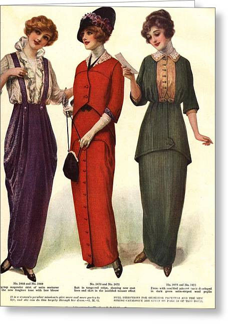 1910s Usa Womens Greeting Card by The Advertising Archives