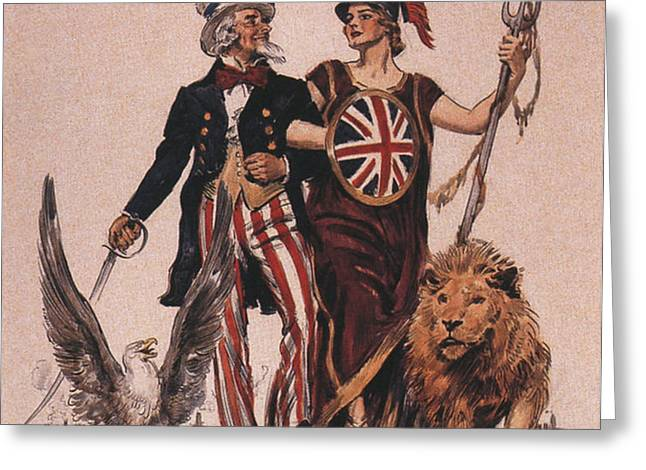 1918 1910s Usa Uncle Sam Ww1  Lions Greeting Card by The Advertising Archives