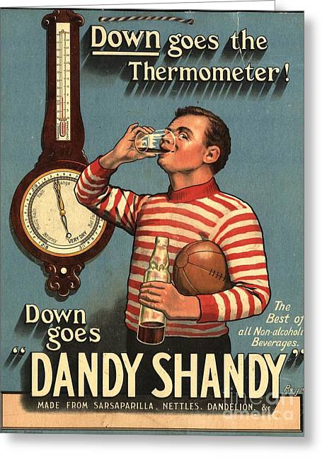 1920s Uk Dandy Shandy Sarsaparilla Greeting Card by The Advertising Archives