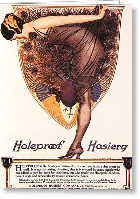 Twentieth Century Greeting Cards -  1920s Usa Hosiery Womens Stockings Greeting Card by The Advertising Archives