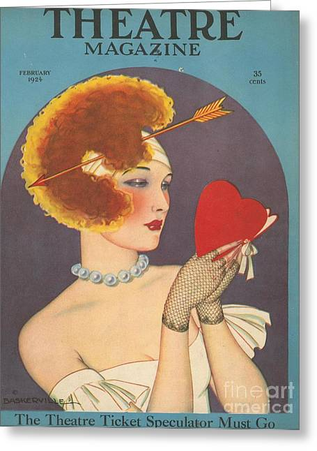 Twentieth Century Greeting Cards -  1920s Usa Love Magazines Greeting Card by The Advertising Archives