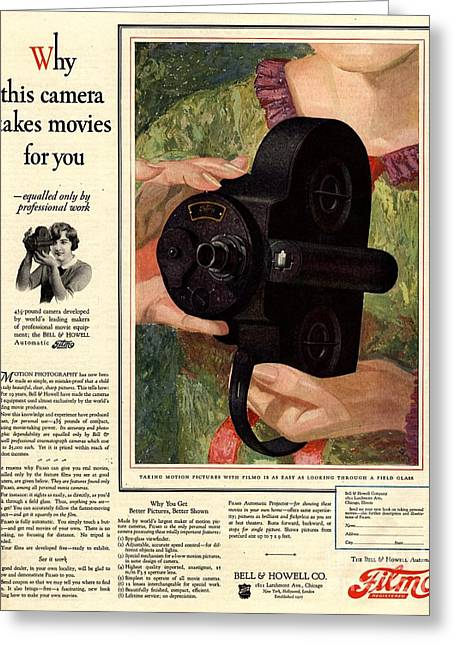 Twentieth Century Greeting Cards -  1926 1920s Usa Cameras Cine Filmo Greeting Card by The Advertising Archives