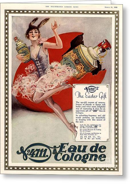 WomenÕs Drawings Greeting Cards -  1928 1920s Uk 4711 Eau De Cologne Art Greeting Card by The Advertising Archives
