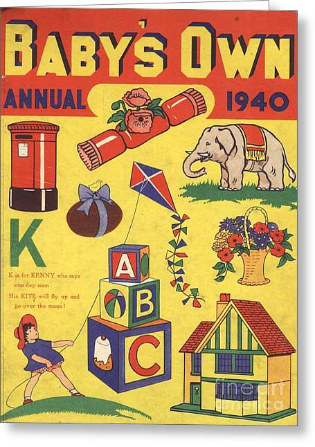 1940 1940s Uk Babies Own Annuals S Greeting Card by The Advertising Archives