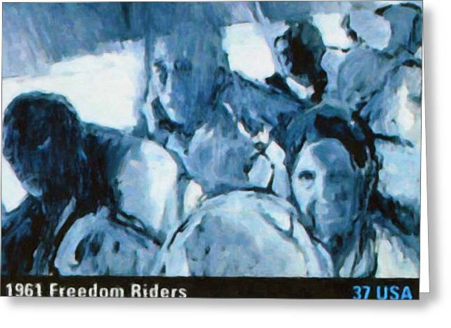 Desegregation Greeting Cards -  1961 Freedom Riders Greeting Card by Lanjee Chee