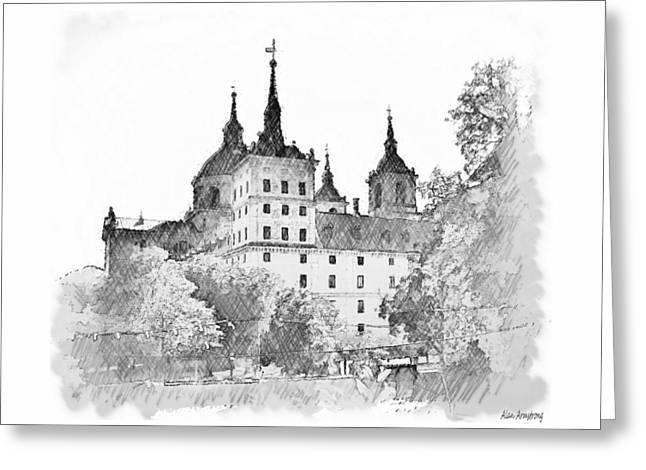 Spain Greeting Cards - # 3 El Escorial Greeting Card by Alan Armstrong