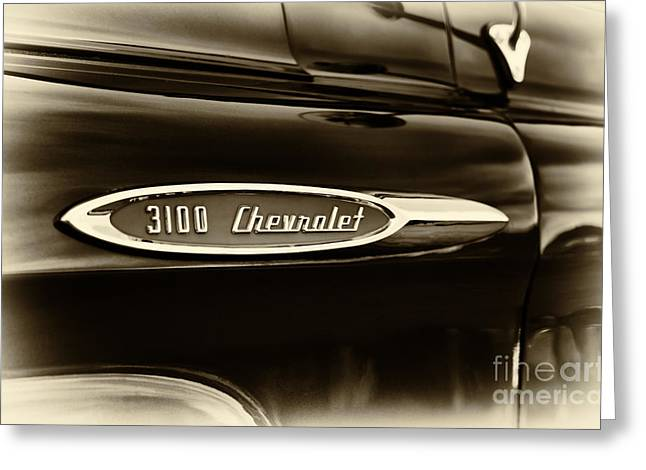 Chevrolet 3100 Greeting Cards -  3100 Chevrolet Truck Sepia Greeting Card by Tim Gainey