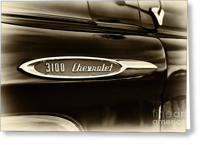 Front End Greeting Cards -  3100 Chevrolet Truck Sepia Greeting Card by Tim Gainey