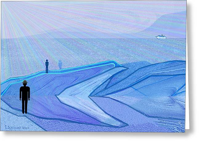 Lonelyness Greeting Cards -   333 - The Cold  Greeting Card by Irmgard Schoendorf Welch