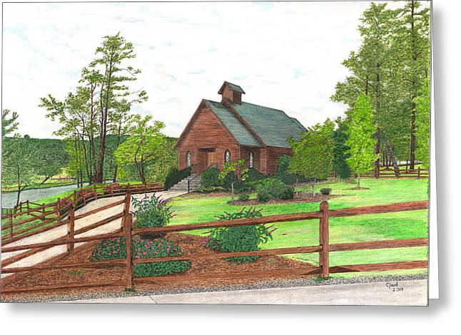 Wedding Chapel Mixed Media Greeting Cards -  600- 2 Greeting Card by Cloud Farrow