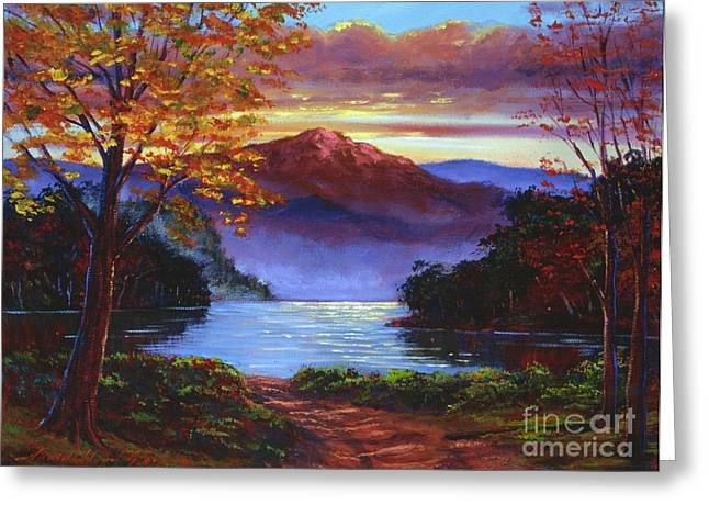 A Moment of Softness Greeting Card by David Lloyd Glover