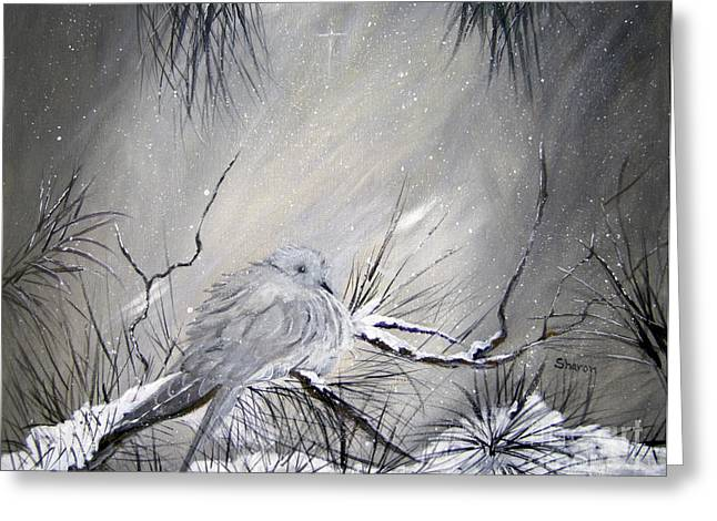 A Peaceful Christmas Morning Greeting Card by Sharon Burger