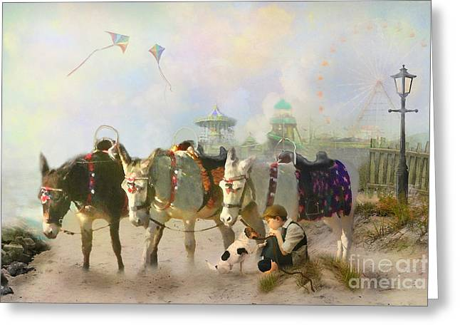 Kite Greeting Cards -  A Quiet Day Greeting Card by Trudi Simmonds