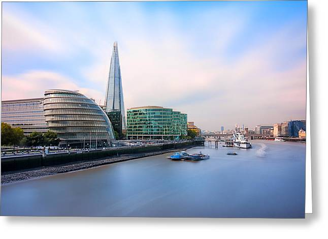 Belfast Greeting Cards -  A Thames View - London Greeting Card by Ian Hufton