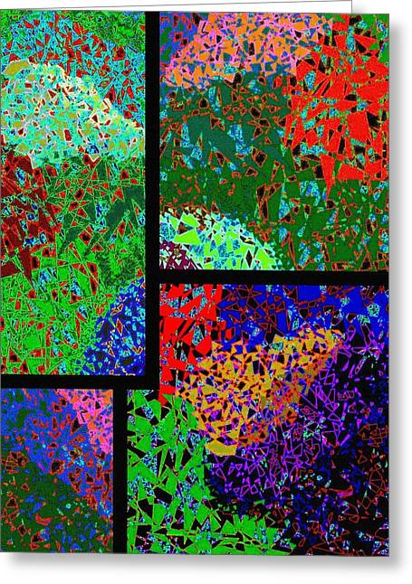 Amalgamation Greeting Cards -  Abstract Fusion 86 Greeting Card by Will Borden