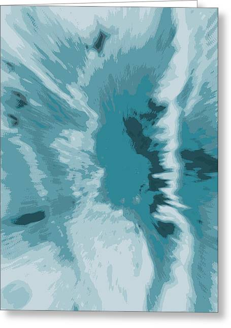 Snow Capped Greeting Cards -  abstract -ICE CAPES FALLING Greeting Card by Sherri  Of Palm Springs