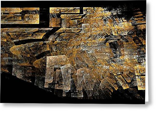 Geometric Image Greeting Cards -  Abstraction 150-02-13 Marucii  Greeting Card by Marek Lutek