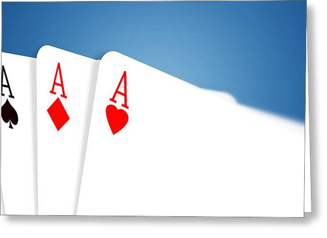 Recently Sold -  - Surprise Greeting Cards -  Aces Greeting Card by Janaka Dharmasena