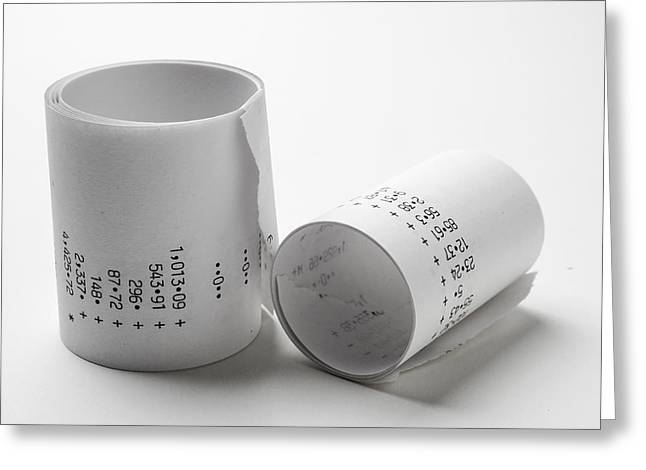 Receipt Greeting Cards -  Adding Machine Tape Greeting Card by Donald  Erickson