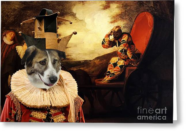 Atlas Print Greeting Cards -  Aidi - Chien de lAtlas Art Canvas Print Greeting Card by Sandra Sij