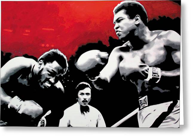 Marcelli Greeting Cards - - Ali vs Fraser - Greeting Card by Luis Ludzska