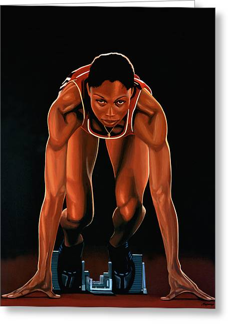 Believe Greeting Cards -  Allyson Felix  Greeting Card by Paul  Meijering