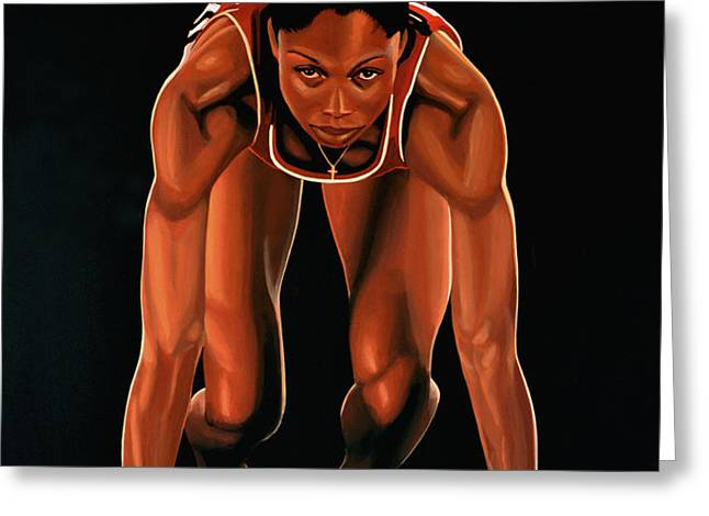Allyson Felix  Greeting Card by Paul  Meijering