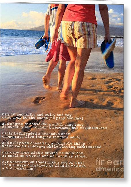 ; Maui Greeting Cards -  Always Ourselves We Find In The Sea Greeting Card by Edward Fielding