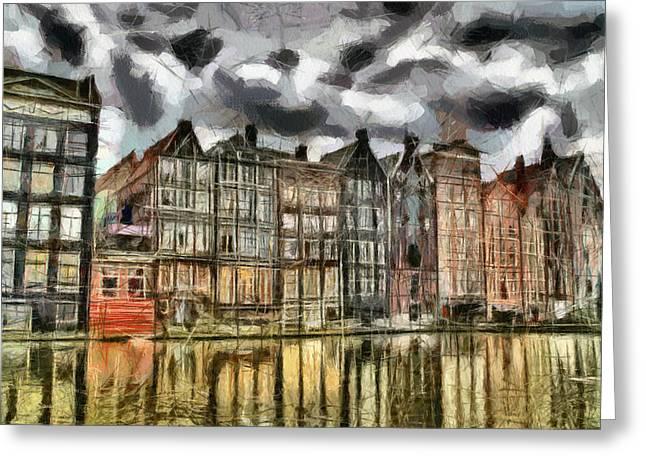Amsterdam Water Canals Greeting Card by Georgi Dimitrov