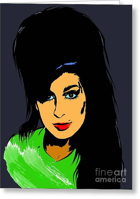 Award Digital Greeting Cards -  Amy  Winehouse Greeting Card by Andrzej Szczerski