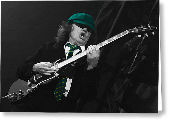Young Michael Jackson Greeting Cards -  Angus Young at the Tacoma Dome in Tacoma Greeting Card by Don Kuing