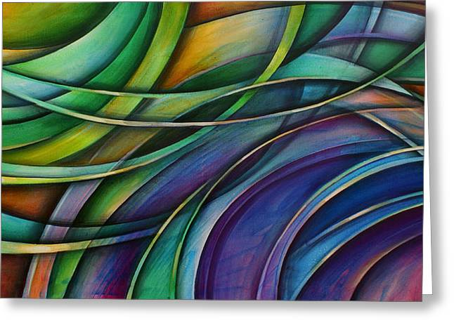 Abstract Movement Greeting Cards -  Approach Greeting Card by Michael Lang