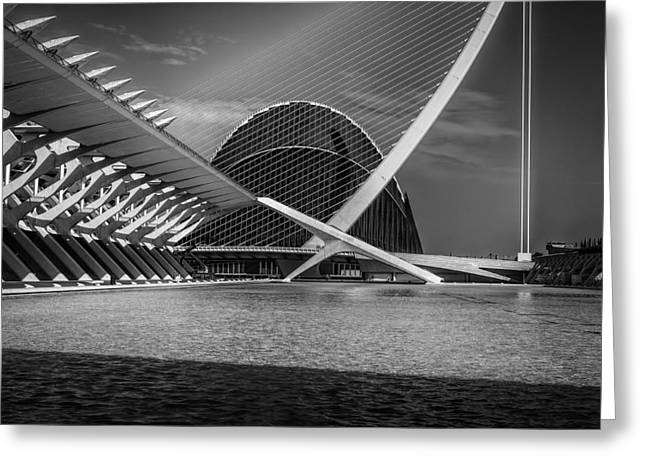 Theater Greeting Cards -   Architecture Valencia IV Greeting Card by Erik Brede