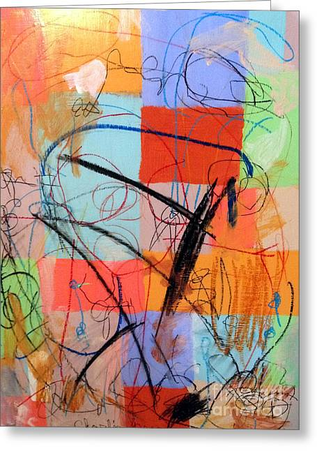 Weights Paintings Greeting Cards -  archived FINDING MARKS IN COLORs Greeting Card by Charlie Spear
