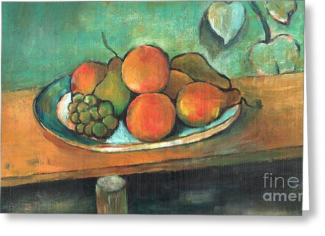 Old Objects Drawings Greeting Cards -  Arcylic Painting Of Fruit  Greeting Card by Bou Lemon