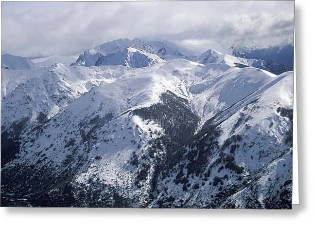 Overcast Day Greeting Cards -  Argentina. Andes Mountains Greeting Card by Anonymous
