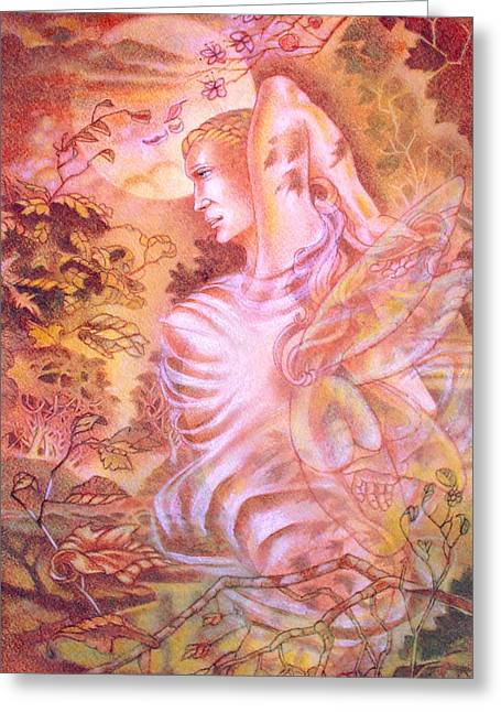 Fairies Pastels Greeting Cards -  At the Bottom of the Garden Greeting Card by Gary Renegar