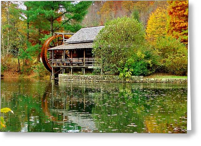Autumn's Reflection Greeting Card by Hominy Valley Photography