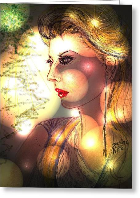 Red Lips Pastels Greeting Cards -  Awakening Memories Greeting Card by Desline Vitto