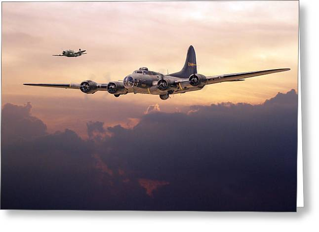 B17- Last Home Greeting Card by Pat Speirs